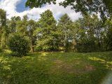 поляна у ручья в сени деревьев